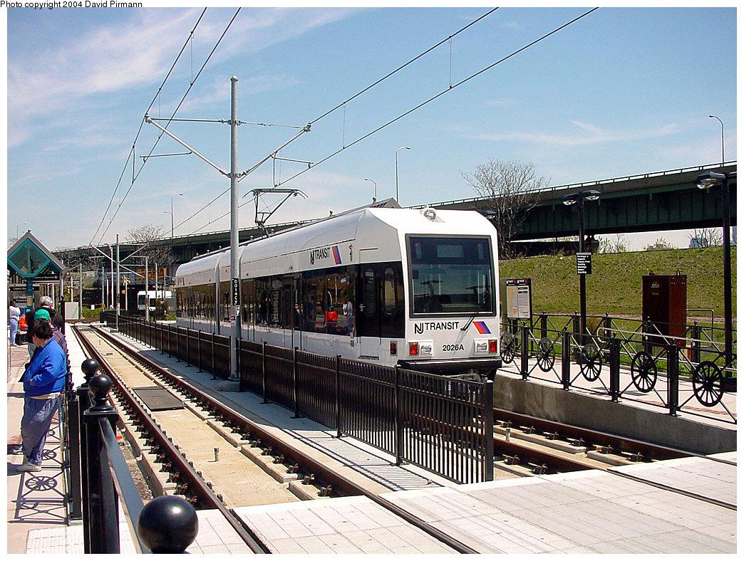 (308k, 1044x788)<br><b>Country:</b> United States<br><b>City:</b> Jersey City, NJ<br><b>System:</b> Hudson Bergen Light Rail<br><b>Location:</b> Liberty State Park <br><b>Car:</b> NJT-HBLR LRV (Kinki-Sharyo, 1998-99)  2026 <br><b>Photo by:</b> David Pirmann<br><b>Date:</b> 4/29/2000<br><b>Viewed (this week/total):</b> 1 / 2601
