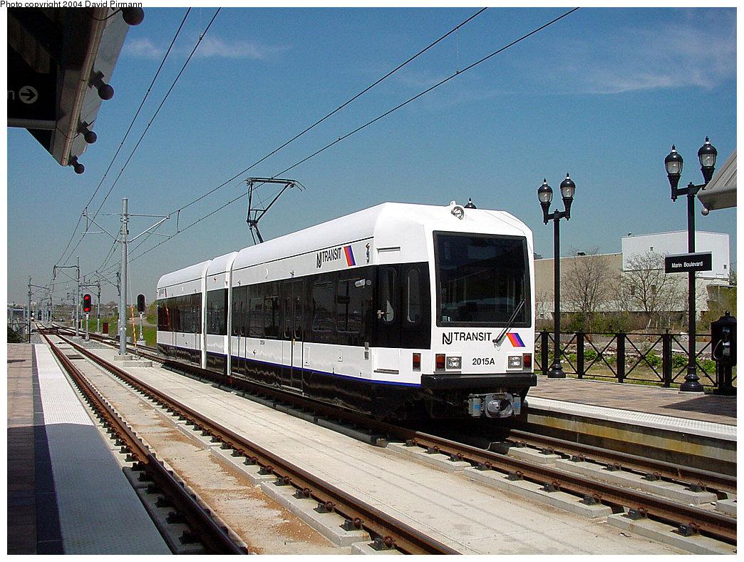 (279k, 1044x788)<br><b>Country:</b> United States<br><b>City:</b> Jersey City, NJ<br><b>System:</b> Hudson Bergen Light Rail<br><b>Location:</b> Marin Boulevard <br><b>Car:</b> NJT-HBLR LRV (Kinki-Sharyo, 1998-99)  2015 <br><b>Photo by:</b> David Pirmann<br><b>Date:</b> 4/29/2000<br><b>Viewed (this week/total):</b> 1 / 2719