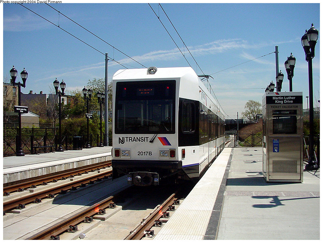 (282k, 1044x788)<br><b>Country:</b> United States<br><b>City:</b> Jersey City, NJ<br><b>System:</b> Hudson Bergen Light Rail<br><b>Location:</b> Martin Luther King Drive <br><b>Car:</b> NJT-HBLR LRV (Kinki-Sharyo, 1998-99)  2017 <br><b>Photo by:</b> David Pirmann<br><b>Date:</b> 4/29/2000<br><b>Viewed (this week/total):</b> 0 / 3397