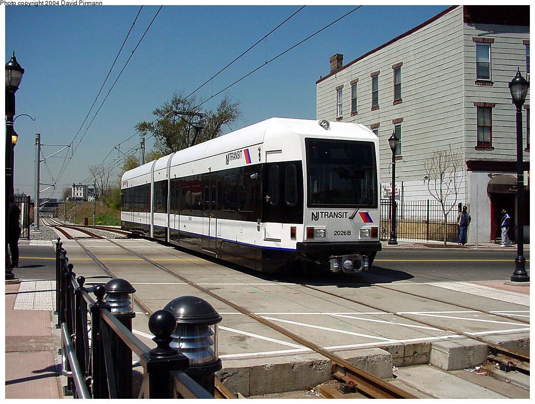 (313k, 1044x788)<br><b>Country:</b> United States<br><b>City:</b> Jersey City, NJ<br><b>System:</b> Hudson Bergen Light Rail<br><b>Location:</b> Martin Luther King Drive <br><b>Car:</b> NJT-HBLR LRV (Kinki-Sharyo, 1998-99)  2026 <br><b>Photo by:</b> David Pirmann<br><b>Date:</b> 4/29/2000<br><b>Viewed (this week/total):</b> 0 / 3896