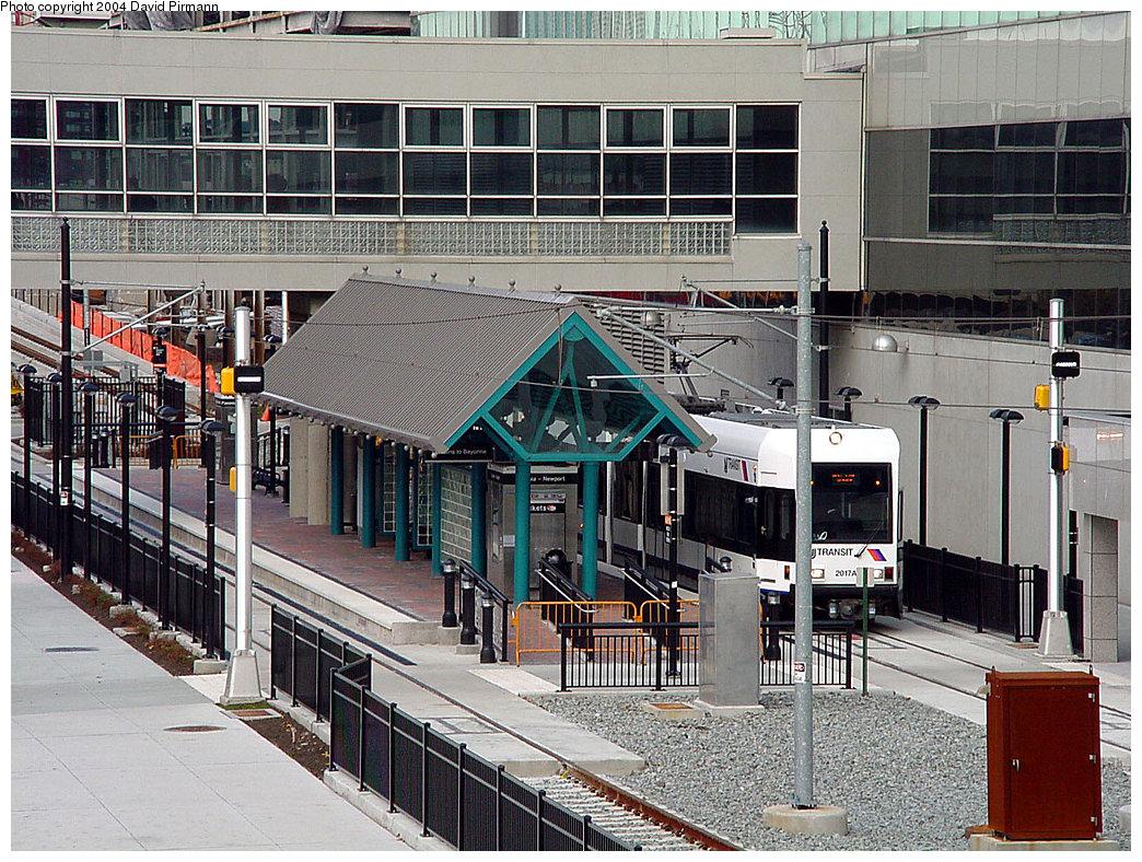(336k, 1044x788)<br><b>Country:</b> United States<br><b>City:</b> Jersey City, NJ<br><b>System:</b> Hudson Bergen Light Rail<br><b>Location:</b> Pavonia/Newport <br><b>Car:</b> NJT-HBLR LRV (Kinki-Sharyo, 1998-99)  2017 <br><b>Photo by:</b> David Pirmann<br><b>Date:</b> 11/12/2000<br><b>Viewed (this week/total):</b> 1 / 3191