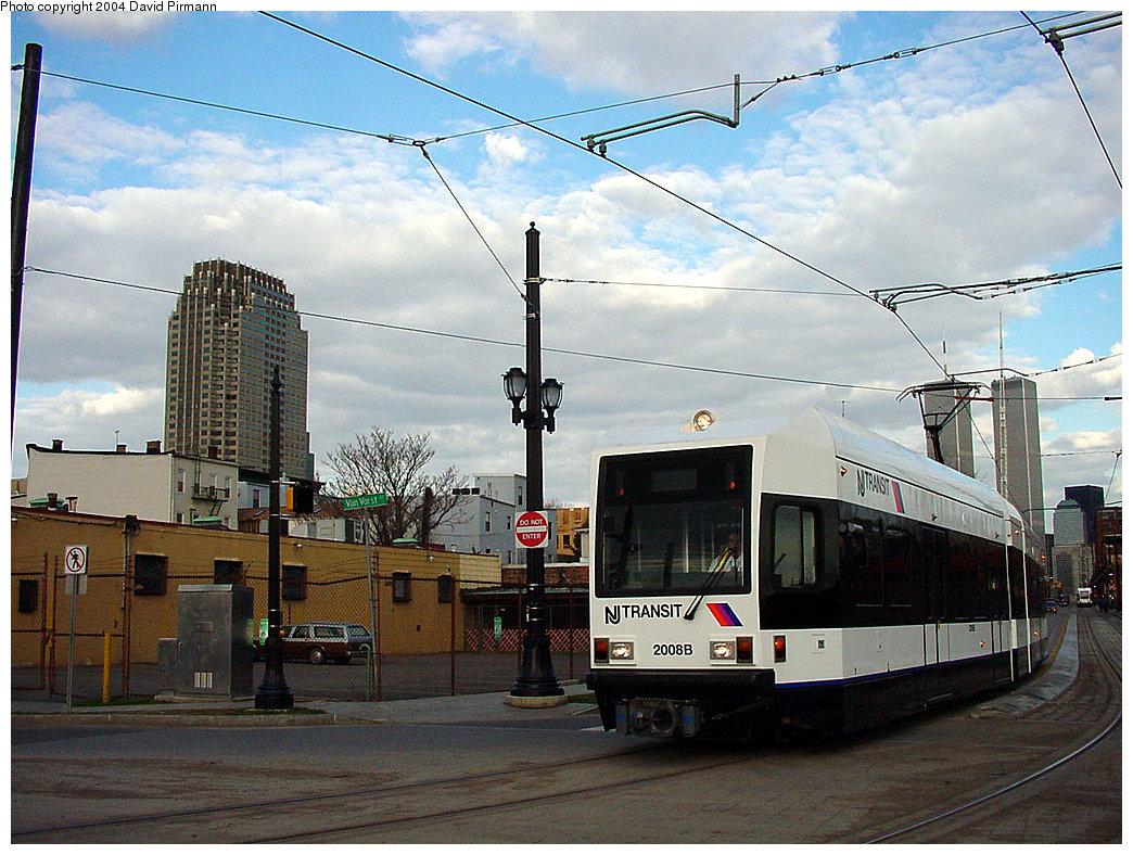 (282k, 1044x788)<br><b>Country:</b> United States<br><b>City:</b> Jersey City, NJ<br><b>System:</b> Hudson Bergen Light Rail<br><b>Location:</b> Van Vorst Street <br><b>Car:</b> NJT-HBLR LRV (Kinki-Sharyo, 1998-99)  2008 <br><b>Photo by:</b> David Pirmann<br><b>Date:</b> 3/26/2000<br><b>Viewed (this week/total):</b> 0 / 3110