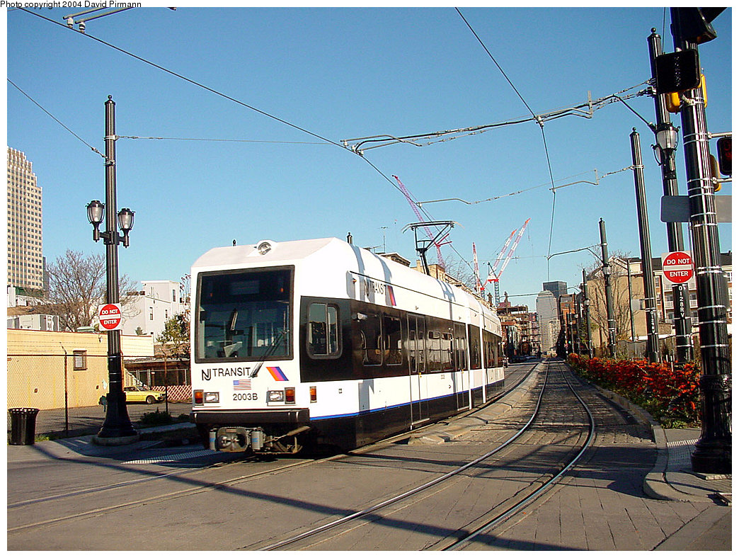 (307k, 1044x788)<br><b>Country:</b> United States<br><b>City:</b> Jersey City, NJ<br><b>System:</b> Hudson Bergen Light Rail<br><b>Location:</b> Van Vorst Street <br><b>Car:</b> NJT-HBLR LRV (Kinki-Sharyo, 1998-99)  2003 <br><b>Photo by:</b> David Pirmann<br><b>Date:</b> 11/11/2001<br><b>Viewed (this week/total):</b> 2 / 3583