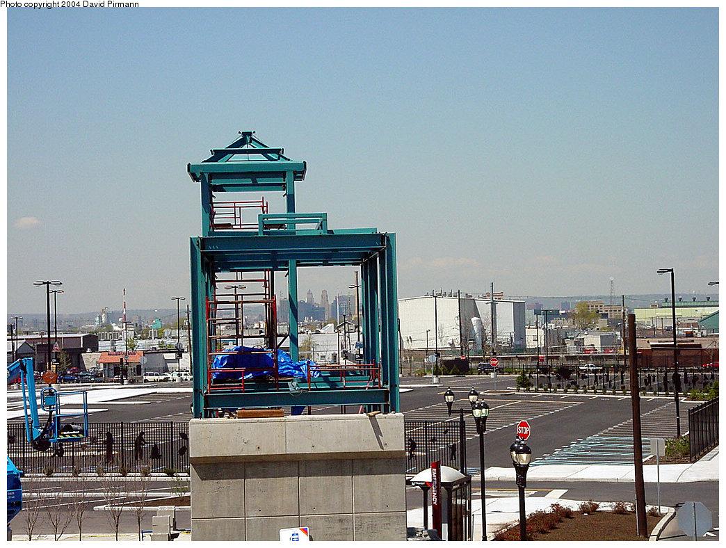 (280k, 1044x788)<br><b>Country:</b> United States<br><b>City:</b> Jersey City, NJ<br><b>System:</b> Hudson Bergen Light Rail<br><b>Location:</b> West Side Avenue <br><b>Photo by:</b> David Pirmann<br><b>Date:</b> 4/29/2000<br><b>Notes:</b> View due west of station showing future bridge/elevator and Newark skyline<br><b>Viewed (this week/total):</b> 0 / 4271