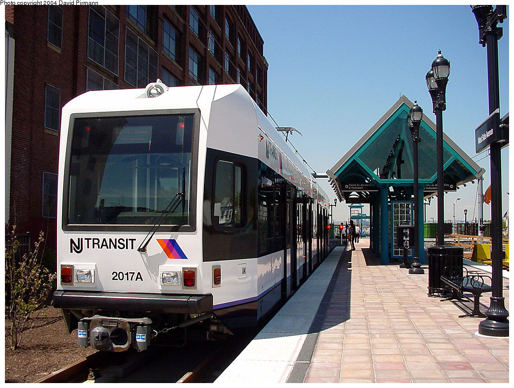 (287k, 1044x788)<br><b>Country:</b> United States<br><b>City:</b> Jersey City, NJ<br><b>System:</b> Hudson Bergen Light Rail<br><b>Location:</b> West Side Avenue <br><b>Car:</b> NJT-HBLR LRV (Kinki-Sharyo, 1998-99)  2017 <br><b>Photo by:</b> David Pirmann<br><b>Date:</b> 4/29/2000<br><b>Viewed (this week/total):</b> 1 / 3303