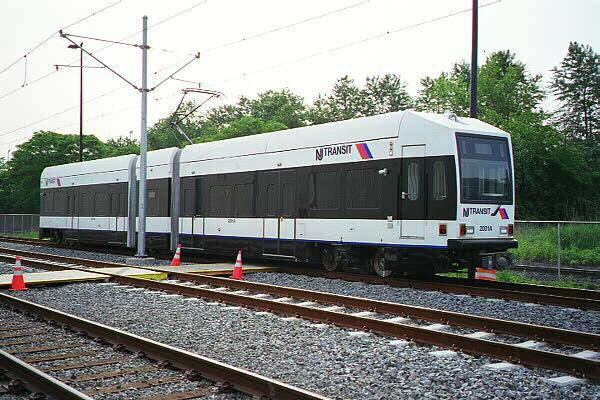 (138k, 600x400)<br><b>Country:</b> United States<br><b>City:</b> Jersey City, NJ<br><b>System:</b> Hudson Bergen Light Rail<br><b>Location:</b> HBLR Shops/Yard <br><b>Car:</b> NJT-HBLR LRV (Kinki-Sharyo, 1998-99)  2001 <br><b>Photo by:</b> Sidney Keyles<br><b>Date:</b> 6/5/1999<br><b>Viewed (this week/total):</b> 0 / 2713