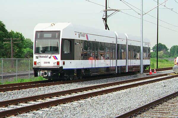 (134k, 600x400)<br><b>Country:</b> United States<br><b>City:</b> Jersey City, NJ<br><b>System:</b> Hudson Bergen Light Rail<br><b>Location:</b> HBLR Shops/Yard <br><b>Car:</b> NJT-HBLR LRV (Kinki-Sharyo, 1998-99)  2001 <br><b>Photo by:</b> Sidney Keyles<br><b>Date:</b> 6/5/1999<br><b>Viewed (this week/total):</b> 5 / 3291