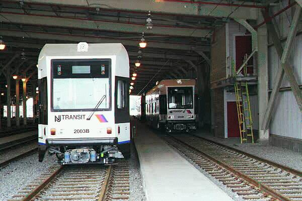 (49k, 600x400)<br><b>Country:</b> United States<br><b>City:</b> Jersey City, NJ<br><b>System:</b> Hudson Bergen Light Rail<br><b>Location:</b> HBLR Shops/Yard <br><b>Car:</b> NJT-HBLR LRV (Kinki-Sharyo, 1998-99)  2003 <br><b>Photo by:</b> Sidney Keyles<br><b>Date:</b> 6/5/1999<br><b>Viewed (this week/total):</b> 0 / 1932