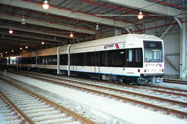 (116k, 600x400)<br><b>Country:</b> United States<br><b>City:</b> Jersey City, NJ<br><b>System:</b> Hudson Bergen Light Rail<br><b>Location:</b> HBLR Shops/Yard <br><b>Car:</b> NJT-HBLR LRV (Kinki-Sharyo, 1998-99)  2003 <br><b>Photo by:</b> Sidney Keyles<br><b>Date:</b> 6/5/1999<br><b>Viewed (this week/total):</b> 0 / 1978