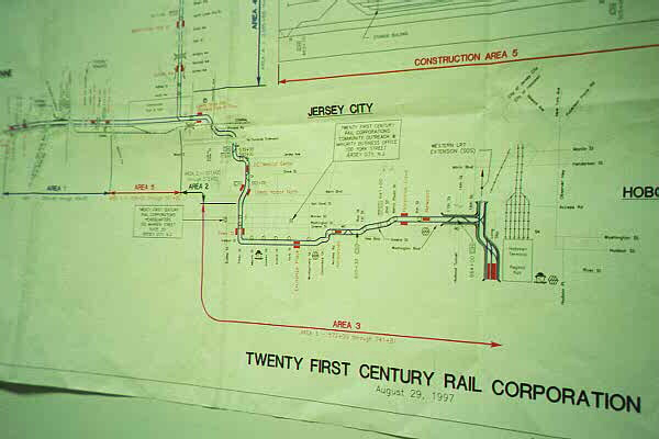 (61k, 600x400)<br><b>Country:</b> United States<br><b>City:</b> Jersey City, NJ<br><b>System:</b> Hudson Bergen Light Rail<br><b>Location:</b> HBLR Shops/Yard <br><b>Photo by:</b> Sidney Keyles<br><b>Date:</b> 6/5/1999<br><b>Notes:</b> Track map<br><b>Viewed (this week/total):</b> 0 / 2650