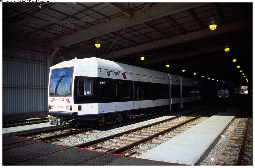 (166k, 1044x688)<br><b>Country:</b> United States<br><b>City:</b> Jersey City, NJ<br><b>System:</b> Hudson Bergen Light Rail<br><b>Location:</b> HBLR Shops/Yard <br><b>Car:</b> NJT-HBLR LRV (Kinki-Sharyo, 1998-99)  2012 <br><b>Photo by:</b> David Pirmann<br><b>Date:</b> 10/2/1999<br><b>Viewed (this week/total):</b> 1 / 2635