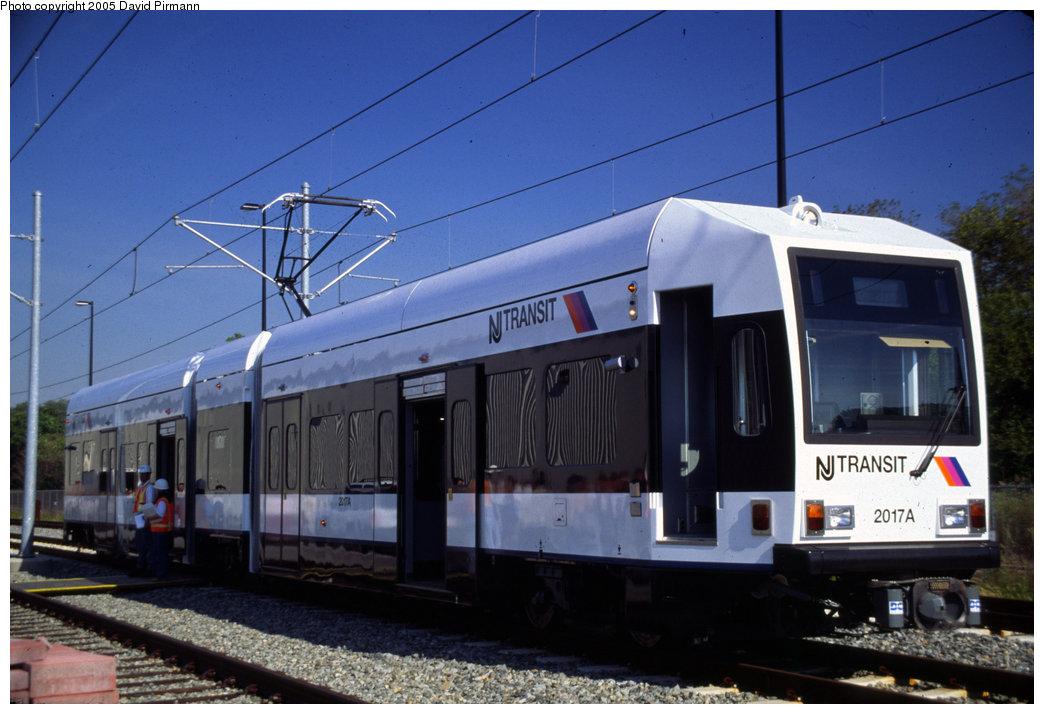 (172k, 1044x714)<br><b>Country:</b> United States<br><b>City:</b> Jersey City, NJ<br><b>System:</b> Hudson Bergen Light Rail<br><b>Location:</b> HBLR Shops/Yard <br><b>Car:</b> NJT-HBLR LRV (Kinki-Sharyo, 1998-99)  2017 <br><b>Photo by:</b> David Pirmann<br><b>Date:</b> 10/2/1999<br><b>Viewed (this week/total):</b> 2 / 3225