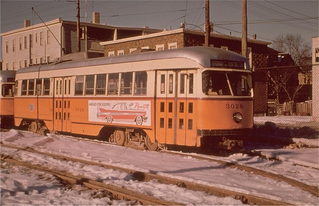 (182k, 1024x662)<br><b>Country:</b> United States<br><b>City:</b> Boston, MA<br><b>System:</b> MBTA<br><b>Line:</b> MBTA Green (E)<br><b>Location:</b> Arborway/Arborway Yard<br><b>Car:</b> MBTA/BSRy PCC Wartime (Pullman-Standard, 1944)  3029 <br><b>Collection of:</b> Joe Testagrose<br><b>Viewed (this week/total):</b> 2 / 2249