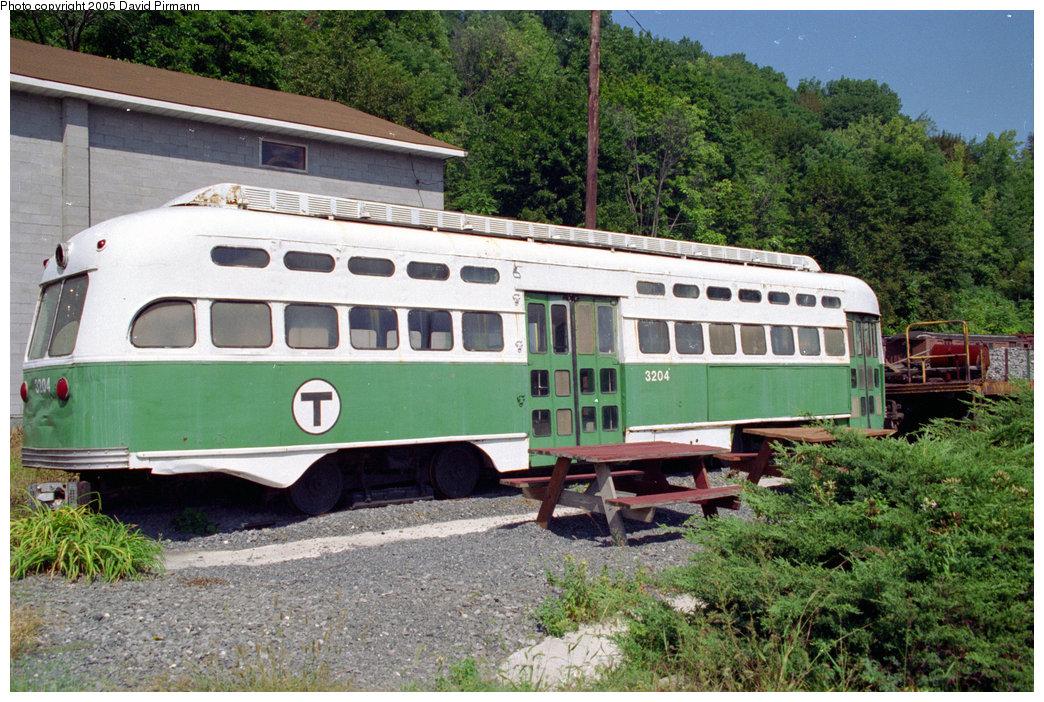 (279k, 1044x702)<br><b>Country:</b> United States<br><b>City:</b> Kingston, NY<br><b>System:</b> Trolley Museum of New York <br><b>Car:</b> MBTA/BSRy PCC Post-War All Electric (Pullman-Standard, 1946)  3204 <br><b>Photo by:</b> David Pirmann<br><b>Date:</b> 9/14/1996<br><b>Viewed (this week/total):</b> 2 / 5250