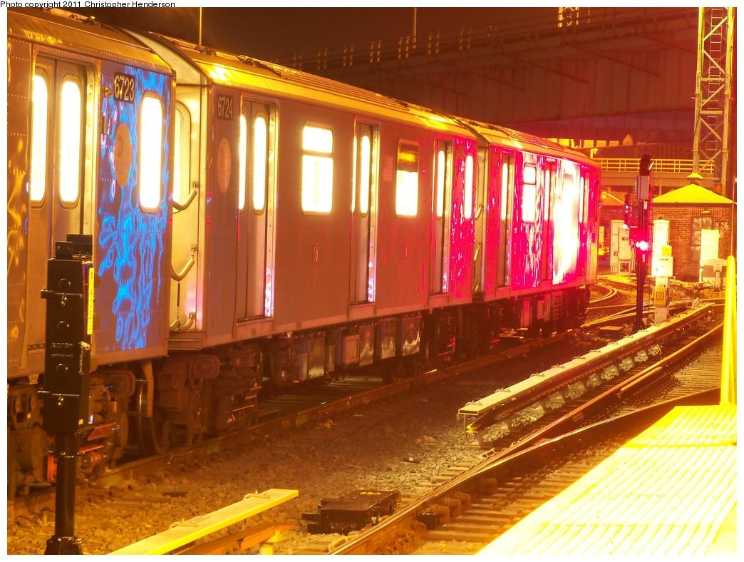 (390k, 1044x788)<br><b>Country:</b> United States<br><b>City:</b> New York<br><b>System:</b> New York City Transit<br><b>Location:</b> East 180th Street Yard<br><b>Car:</b> R-142 (Primary Order, Bombardier, 1999-2002)  6724 <br><b>Photo by:</b> Christopher Henderson<br><b>Date:</b> 11/13/2011<br><b>Viewed (this week/total):</b> 0 / 1599