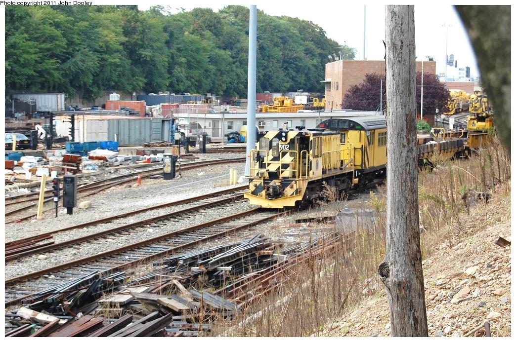 (462k, 1044x693)<br><b>Country:</b> United States<br><b>City:</b> New York<br><b>System:</b> New York City Transit<br><b>Location:</b> 36th Street Yard<br><b>Route:</b> Work Service<br><b>Car:</b> R-77 Locomotive  902 <br><b>Photo by:</b> John Dooley<br><b>Date:</b> 9/21/2011<br><b>Viewed (this week/total):</b> 2 / 682