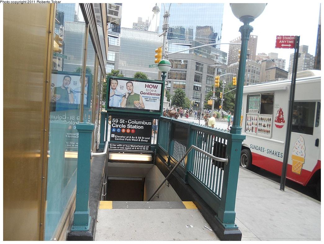 (365k, 1044x788)<br><b>Country:</b> United States<br><b>City:</b> New York<br><b>System:</b> New York City Transit<br><b>Line:</b> IRT West Side Line<br><b>Location:</b> 59th Street/Columbus Circle <br><b>Photo by:</b> Roberto C. Tobar<br><b>Date:</b> 8/19/2011<br><b>Viewed (this week/total):</b> 1 / 1085