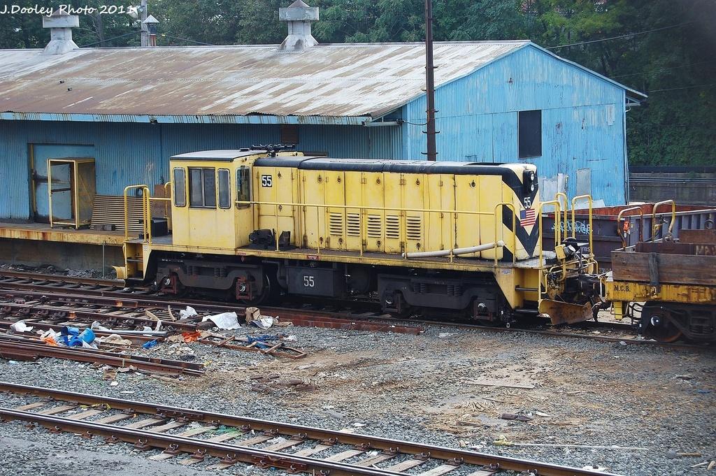 (471k, 1024x681)<br><b>Country:</b> United States<br><b>City:</b> New York<br><b>System:</b> New York City Transit<br><b>Location:</b> 36th Street Yard<br><b>Route:</b> Work Service<br><b>Car:</b> R-41 Locomotive  55 <br><b>Photo by:</b> John Dooley<br><b>Date:</b> 10/26/2011<br><b>Viewed (this week/total):</b> 0 / 569