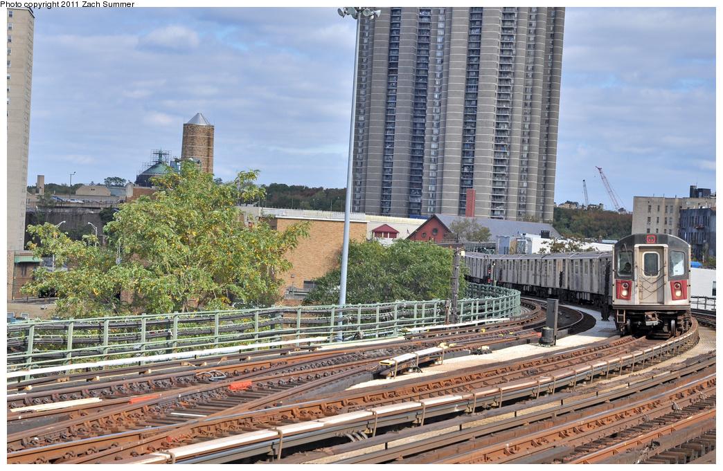 (463k, 1044x681)<br><b>Country:</b> United States<br><b>City:</b> New York<br><b>System:</b> New York City Transit<br><b>Line:</b> IRT Woodlawn Line<br><b>Location:</b> Bedford Park Boulevard <br><b>Route:</b> 4<br><b>Car:</b> R-142 (Option Order, Bombardier, 2002-2003)  7145 <br><b>Photo by:</b> Zach Summer<br><b>Date:</b> 10/23/2011<br><b>Viewed (this week/total):</b> 2 / 1004