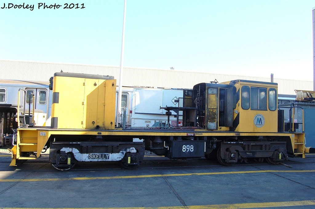 (281k, 1024x680)<br><b>Country:</b> United States<br><b>City:</b> New York<br><b>System:</b> New York City Transit<br><b>Location:</b> Westchester Yard<br><b>Car:</b> R-77 Locomotive  898 <br><b>Photo by:</b> John Dooley<br><b>Date:</b> 11/5/2011<br><b>Notes:</b> Prime mover removed for SMS<br><b>Viewed (this week/total):</b> 0 / 761