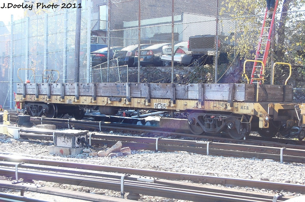 (491k, 1024x680)<br><b>Country:</b> United States<br><b>City:</b> New York<br><b>System:</b> New York City Transit<br><b>Location:</b> Westchester Yard<br><b>Car:</b> Flat Car 515 <br><b>Photo by:</b> John Dooley<br><b>Date:</b> 11/5/2011<br><b>Viewed (this week/total):</b> 0 / 655