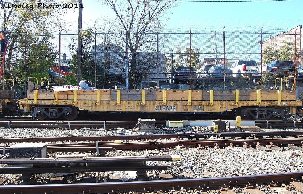 (492k, 1024x655)<br><b>Country:</b> United States<br><b>City:</b> New York<br><b>System:</b> New York City Transit<br><b>Location:</b> Westchester Yard<br><b>Car:</b> Flat Car 622 <br><b>Photo by:</b> John Dooley<br><b>Date:</b> 11/5/2011<br><b>Viewed (this week/total):</b> 4 / 570