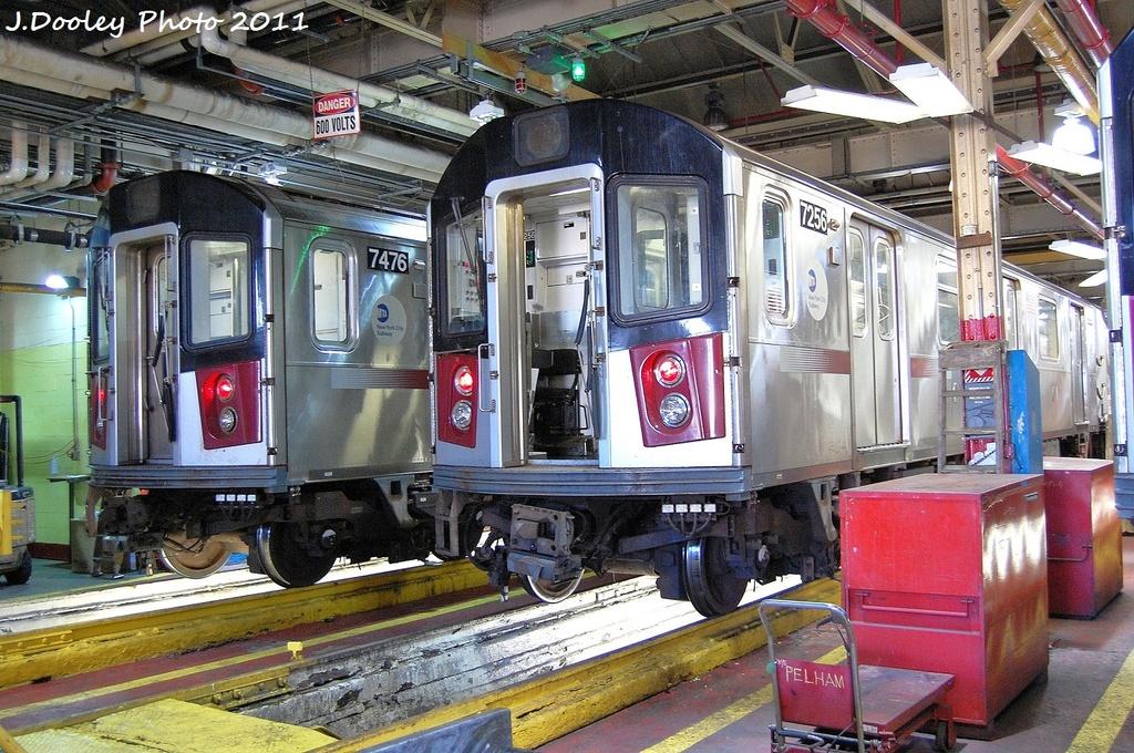 (431k, 1024x680)<br><b>Country:</b> United States<br><b>City:</b> New York<br><b>System:</b> New York City Transit<br><b>Location:</b> Westchester Yard<br><b>Car:</b> R-142A (Primary Order, Kawasaki, 1999-2002)  7476/7256 <br><b>Photo by:</b> John Dooley<br><b>Date:</b> 11/5/2011<br><b>Viewed (this week/total):</b> 4 / 802