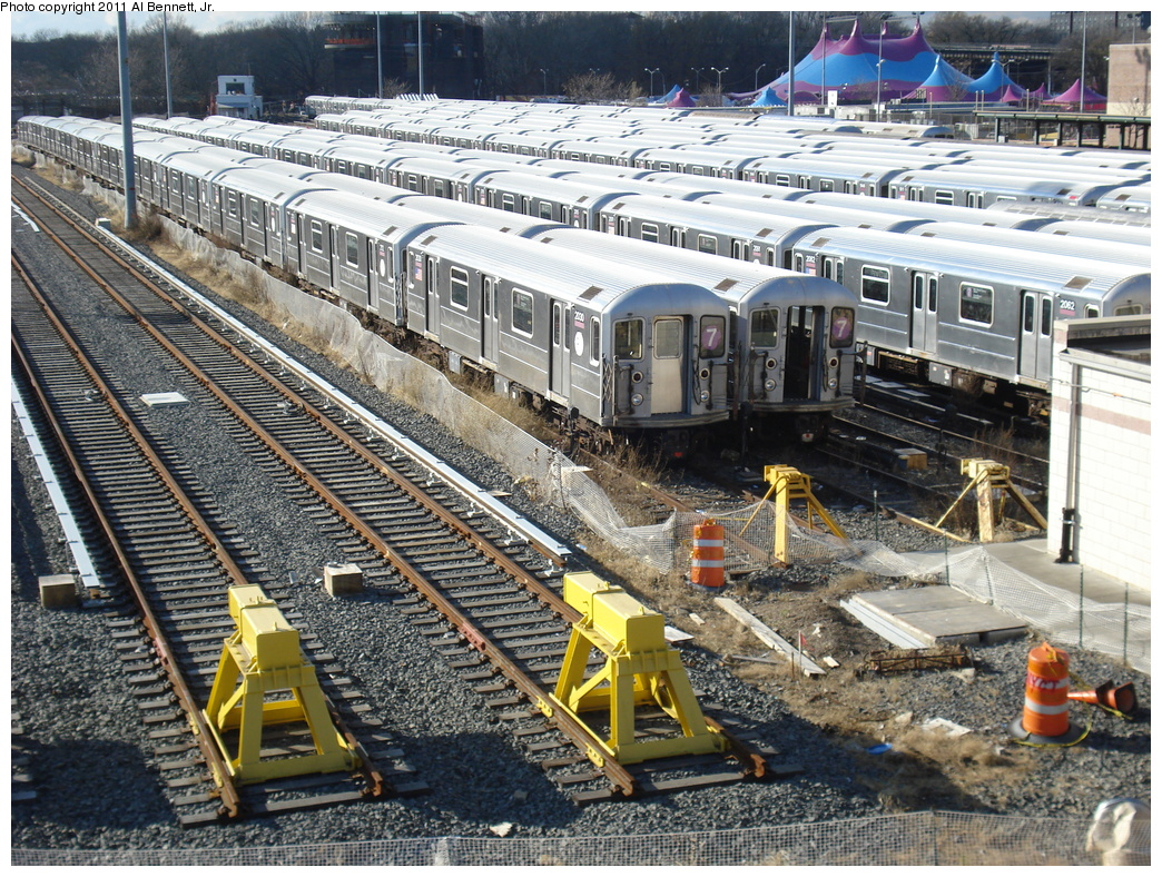 (508k, 1044x788)<br><b>Country:</b> United States<br><b>City:</b> New York<br><b>System:</b> New York City Transit<br><b>Location:</b> Corona Yard<br><b>Car:</b> R-62A (Bombardier, 1984-1987)  2030 <br><b>Photo by:</b> Al Bennett, Jr.<br><b>Date:</b> 12/1/2008<br><b>Viewed (this week/total):</b> 3 / 662