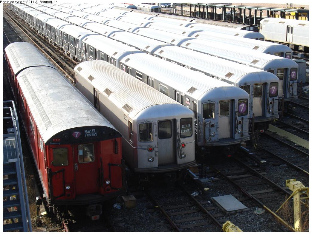 (378k, 1044x788)<br><b>Country:</b> United States<br><b>City:</b> New York<br><b>System:</b> New York City Transit<br><b>Location:</b> Corona Yard<br><b>Car:</b> R-127/R-134 (Kawasaki, 1991-1996) EP012 <br><b>Photo by:</b> Al Bennett, Jr.<br><b>Date:</b> 12/1/2008<br><b>Viewed (this week/total):</b> 0 / 1072