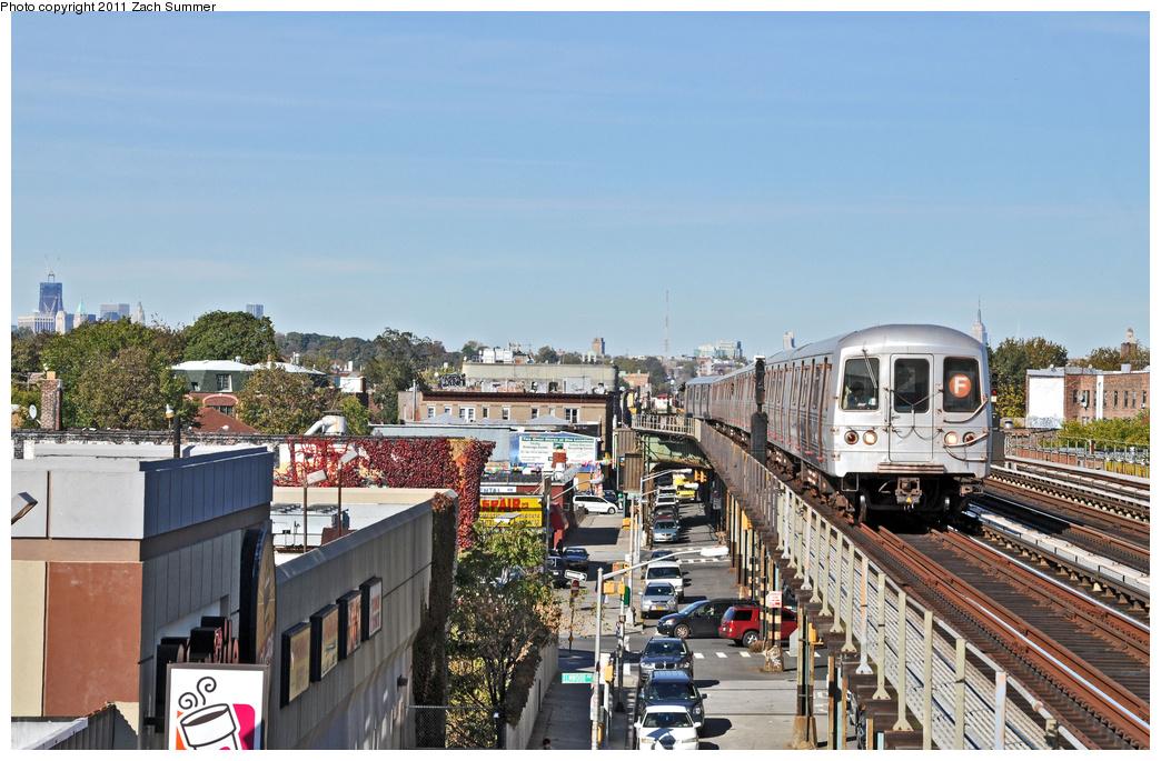 (380k, 1044x685)<br><b>Country:</b> United States<br><b>City:</b> New York<br><b>System:</b> New York City Transit<br><b>Line:</b> BMT Culver Line<br><b>Location:</b> Avenue I <br><b>Route:</b> F<br><b>Car:</b> R-46 (Pullman-Standard, 1974-75) 5632 <br><b>Photo by:</b> Zach Summer<br><b>Date:</b> 10/28/2011<br><b>Viewed (this week/total):</b> 0 / 1227