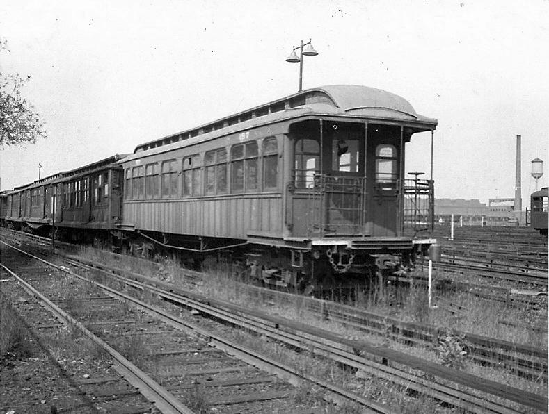 (250k, 789x596)<br><b>Country:</b> United States<br><b>City:</b> New York<br><b>System:</b> New York City Transit<br><b>Location:</b> Coney Island Yard<br><b>Car:</b> BMT Elevated Gate Car 197 <br><b>Collection of:</b> Frank Pfuhler<br><b>Date:</b> 3/13/1955<br><b>Viewed (this week/total):</b> 0 / 614