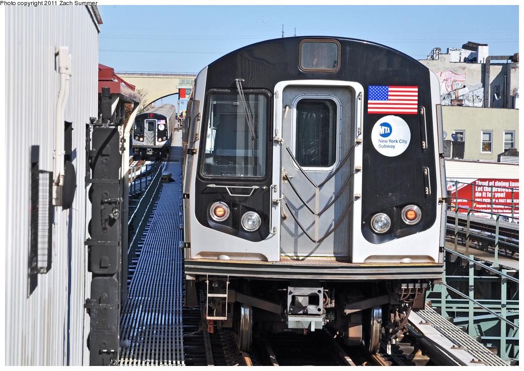 (424k, 1044x739)<br><b>Country:</b> United States<br><b>City:</b> New York<br><b>System:</b> New York City Transit<br><b>Line:</b> BMT Astoria Line<br><b>Location:</b> Astoria Boulevard/Hoyt Avenue<br><b>Route:</b> N<br><b>Car:</b> R-160A-2 (Alstom, 2005-2008, 5 car sets) 8663 <br><b>Photo by:</b> Zach Summer<br><b>Date:</b> 10/30/2011<br><b>Viewed (this week/total):</b> 1 / 1534