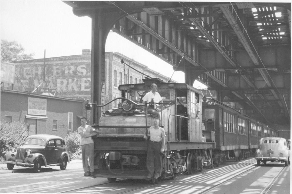 (222k, 1024x681)<br><b>Country:</b> United States<br><b>City:</b> New York<br><b>System:</b> New York City Transit<br><b>Line:</b> South Brooklyn Railway<br><b>Location:</b> McDonald Avenue (SBK)<br><b>Car:</b> SBK Steeplecab 7 <br><b>Photo by:</b> Ed Watson/Arthur Lonto Collection<br><b>Collection of:</b> Frank Pfuhler<br><b>Date:</b> 1948<br><b>Viewed (this week/total):</b> 3 / 1175