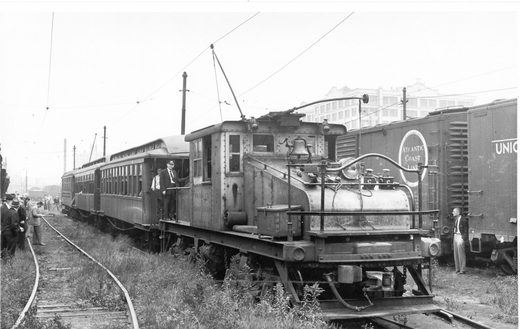 (217k, 1024x649)<br><b>Country:</b> United States<br><b>City:</b> New York<br><b>System:</b> New York City Transit<br><b>Line:</b> South Brooklyn Railway<br><b>Location:</b> SBK Yard (2nd Ave at 38th St.) (SBK)<br><b>Route:</b> Fan Trip<br><b>Car:</b> SBK Steeplecab 7 <br><b>Photo by:</b> Ed Watson/Arthur Lonto Collection<br><b>Collection of:</b> Frank Pfuhler<br><b>Date:</b> 9/29/1946<br><b>Viewed (this week/total):</b> 3 / 1227