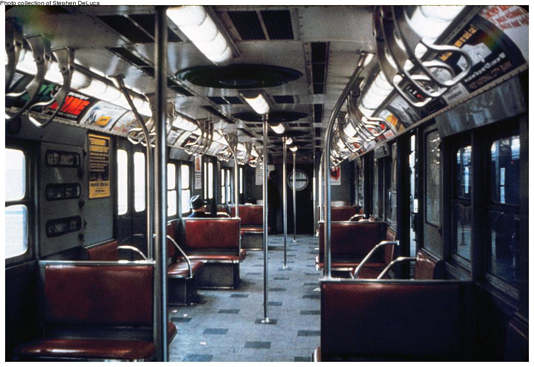 (398k, 1044x717)<br><b>Country:</b> United States<br><b>City:</b> New York<br><b>System:</b> New York City Transit<br><b>Route:</b> Jamaica<br><b>Car:</b> R-16 (American Car & Foundry, 1955) Interior <br><b>Photo by:</b> A.W. Koster<br><b>Collection of:</b> Stephen DeLuca<br><b>Viewed (this week/total):</b> 2 / 1912