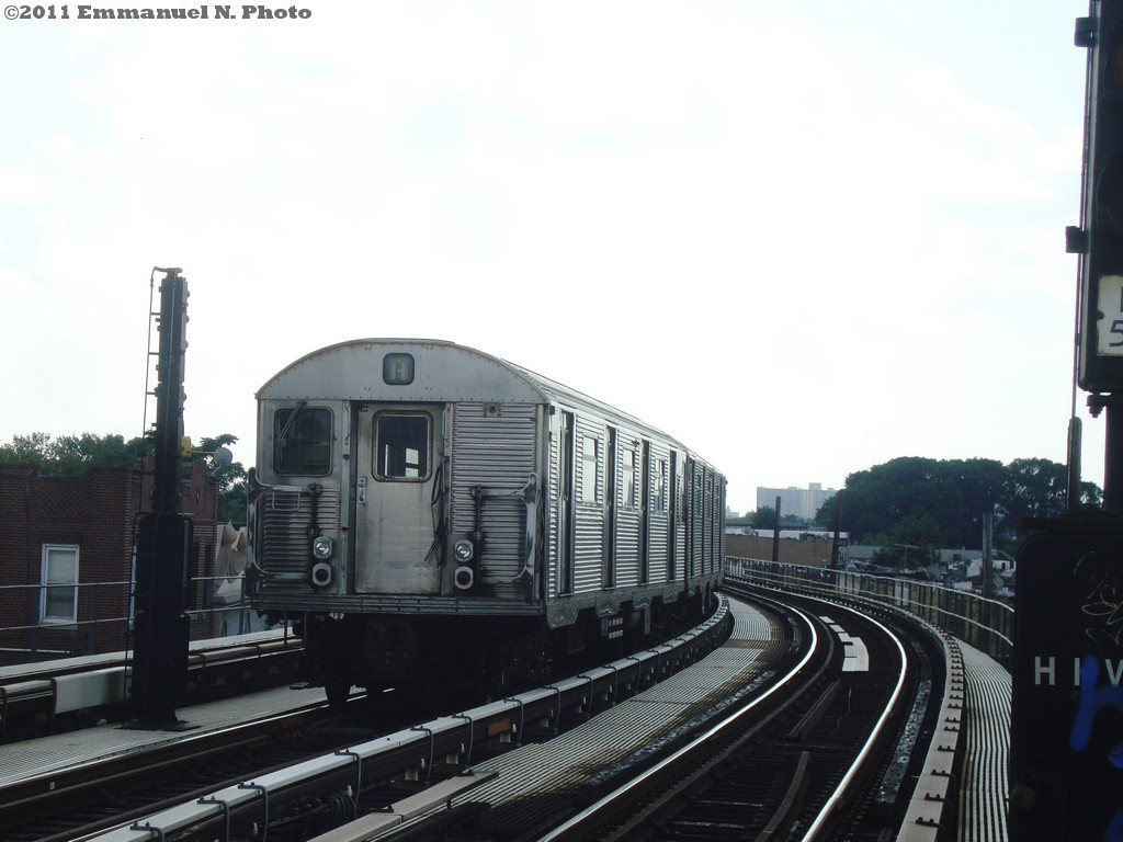 (172k, 1024x768)<br><b>Country:</b> United States<br><b>City:</b> New York<br><b>System:</b> New York City Transit<br><b>Line:</b> IND Fulton Street Line<br><b>Location:</b> 111th Street/Greenwood Avenue <br><b>Route:</b> A Layup<br><b>Car:</b> R-32 (Budd, 1964)  3740 <br><b>Photo by:</b> Emmanuel Nicolas<br><b>Viewed (this week/total):</b> 0 / 827