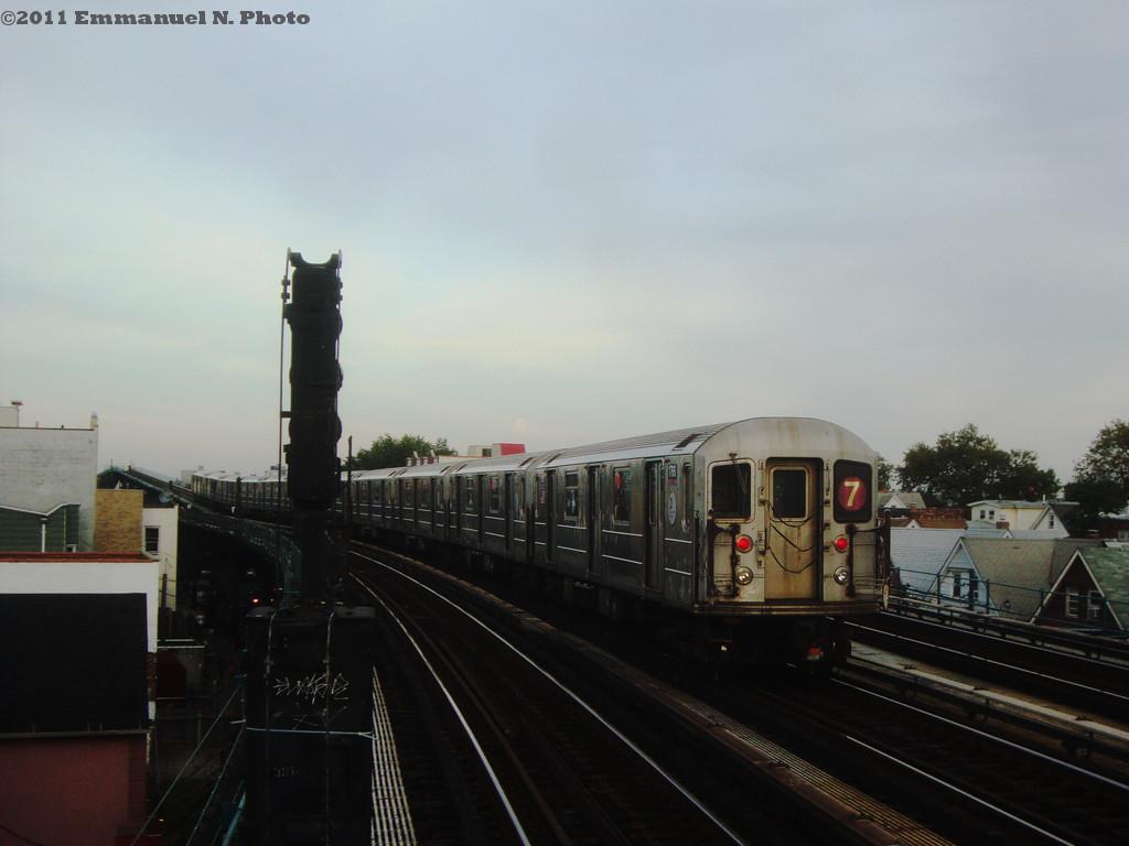 (155k, 1024x768)<br><b>Country:</b> United States<br><b>City:</b> New York<br><b>System:</b> New York City Transit<br><b>Line:</b> IRT Flushing Line<br><b>Location:</b> 103rd Street/Corona Plaza <br><b>Route:</b> 7<br><b>Car:</b> R-62A (Bombardier, 1984-1987)  1756 <br><b>Photo by:</b> Emmanuel Nicolas<br><b>Viewed (this week/total):</b> 0 / 1097