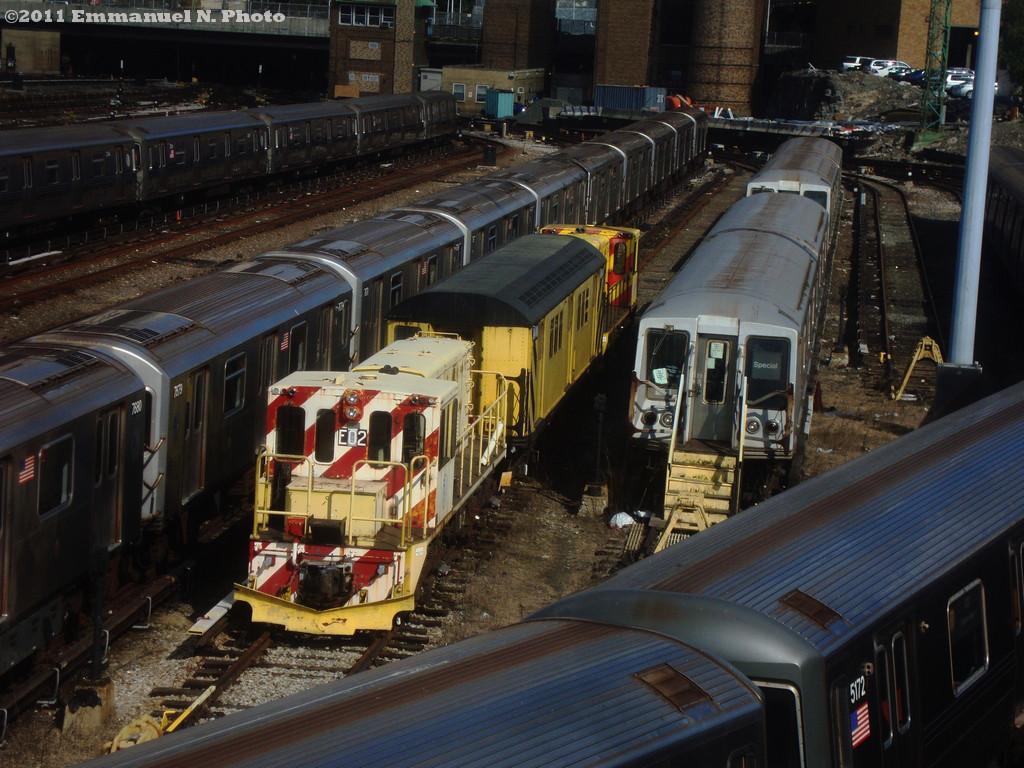 (278k, 1024x768)<br><b>Country:</b> United States<br><b>City:</b> New York<br><b>System:</b> New York City Transit<br><b>Location:</b> Concourse Yard<br><b>Car:</b> R-77E Locomotive  E02 <br><b>Photo by:</b> Emmanuel Nicolas<br><b>Viewed (this week/total):</b> 1 / 650