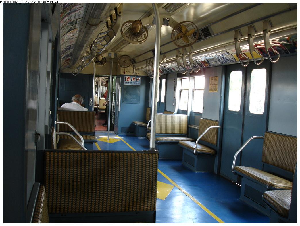 (356k, 1044x788)<br><b>Country:</b> United States<br><b>City:</b> New York<br><b>System:</b> New York City Transit<br><b>Line:</b> IND Rockaway<br><b>Location:</b> Rockaway Park/Beach 116th Street <br><b>Route:</b> Fan Trip<br><b>Car:</b> R-7A (Pullman, 1938)  1575 <br><b>Photo by:</b> Alfonso Font, Jr.<br><b>Date:</b> 7/22/2007<br><b>Viewed (this week/total):</b> 0 / 903