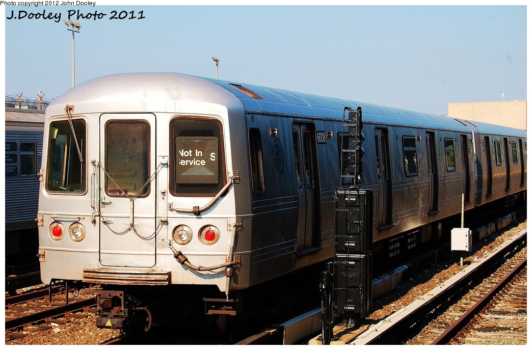 (341k, 1044x687)<br><b>Country:</b> United States<br><b>City:</b> New York<br><b>System:</b> New York City Transit<br><b>Location:</b> Rockaway Park Yard<br><b>Car:</b> R-46 (Pullman-Standard, 1974-75) 6008 <br><b>Photo by:</b> John Dooley<br><b>Date:</b> 8/20/2011<br><b>Viewed (this week/total):</b> 2 / 1116