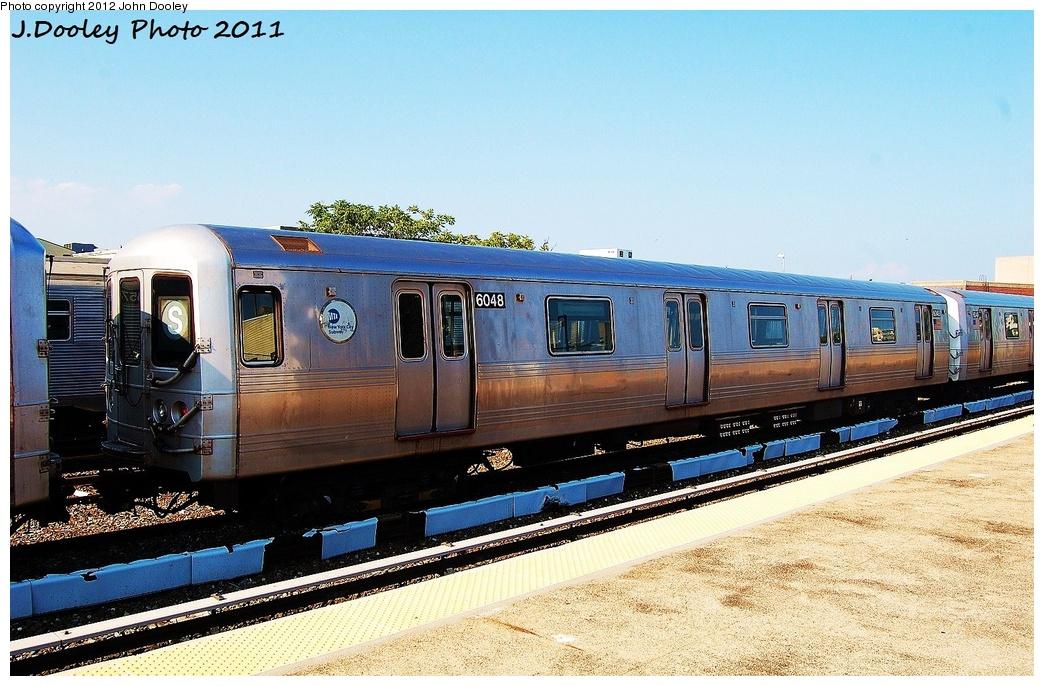 (353k, 1044x686)<br><b>Country:</b> United States<br><b>City:</b> New York<br><b>System:</b> New York City Transit<br><b>Location:</b> Rockaway Park Yard<br><b>Car:</b> R-46 (Pullman-Standard, 1974-75) 6048 <br><b>Photo by:</b> John Dooley<br><b>Date:</b> 8/20/2011<br><b>Viewed (this week/total):</b> 1 / 773