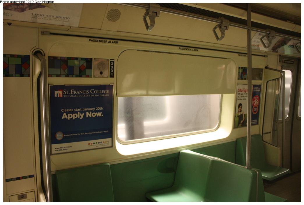 (231k, 1044x703)<br><b>Country:</b> United States<br><b>City:</b> New York<br><b>System:</b> New York City Transit<br><b>Location:</b> Coney Island Yard-Training Facilities<br><b>Car:</b> R-110B (Bombardier, 1992) 3004 <br><b>Photo by:</b> Daniel Negron<br><b>Date:</b> 12/8/2011<br><b>Viewed (this week/total):</b> 0 / 1759