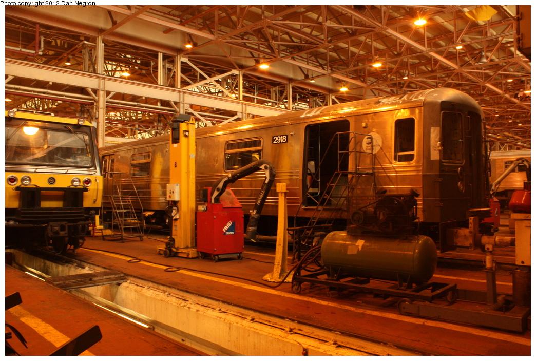 (385k, 1044x703)<br><b>Country:</b> United States<br><b>City:</b> New York<br><b>System:</b> New York City Transit<br><b>Location:</b> Coney Island Shop/Overhaul & Repair Shop<br><b>Car:</b> R-68 (Westinghouse-Amrail, 1986-1988)  2918 <br><b>Photo by:</b> Daniel Negron<br><b>Date:</b> 12/8/2011<br><b>Viewed (this week/total):</b> 4 / 844