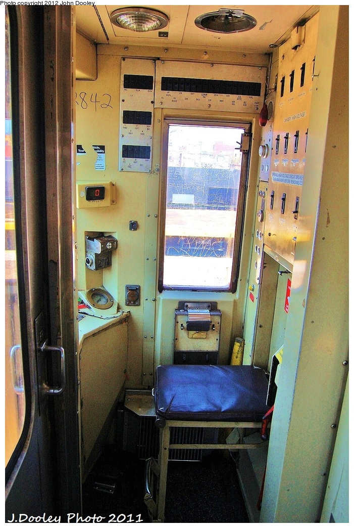 (387k, 701x1044)<br><b>Country:</b> United States<br><b>City:</b> New York<br><b>System:</b> New York City Transit<br><b>Route:</b> D<br><b>Car:</b> R-68 (Westinghouse-Amrail, 1986-1988)  2842 <br><b>Photo by:</b> John Dooley<br><b>Date:</b> 7/20/2011<br><b>Notes:</b> Motorman cab.<br><b>Viewed (this week/total):</b> 0 / 1604