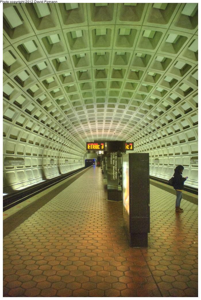 (389k, 700x1044)<br><b>Country:</b> United States<br><b>City:</b> Washington, D.C.<br><b>System:</b> Washington Metro (WMATA)<br><b>Line:</b> WMATA Green Line<br><b>Location:</b> U Street/African-American Civil War Memorial/Cardozo <br><b>Photo by:</b> David Pirmann<br><b>Date:</b> 1/14/2012<br><b>Viewed (this week/total):</b> 0 / 787