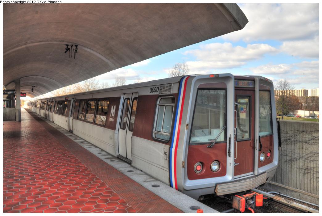 (340k, 1044x699)<br><b>Country:</b> United States<br><b>City:</b> Washington, D.C.<br><b>System:</b> Washington Metro (WMATA)<br><b>Line:</b> WMATA Blue Line<br><b>Location:</b> Van Dorn Street <br><b>Car:</b>  3090 <br><b>Photo by:</b> David Pirmann<br><b>Date:</b> 1/14/2012<br><b>Viewed (this week/total):</b> 2 / 646