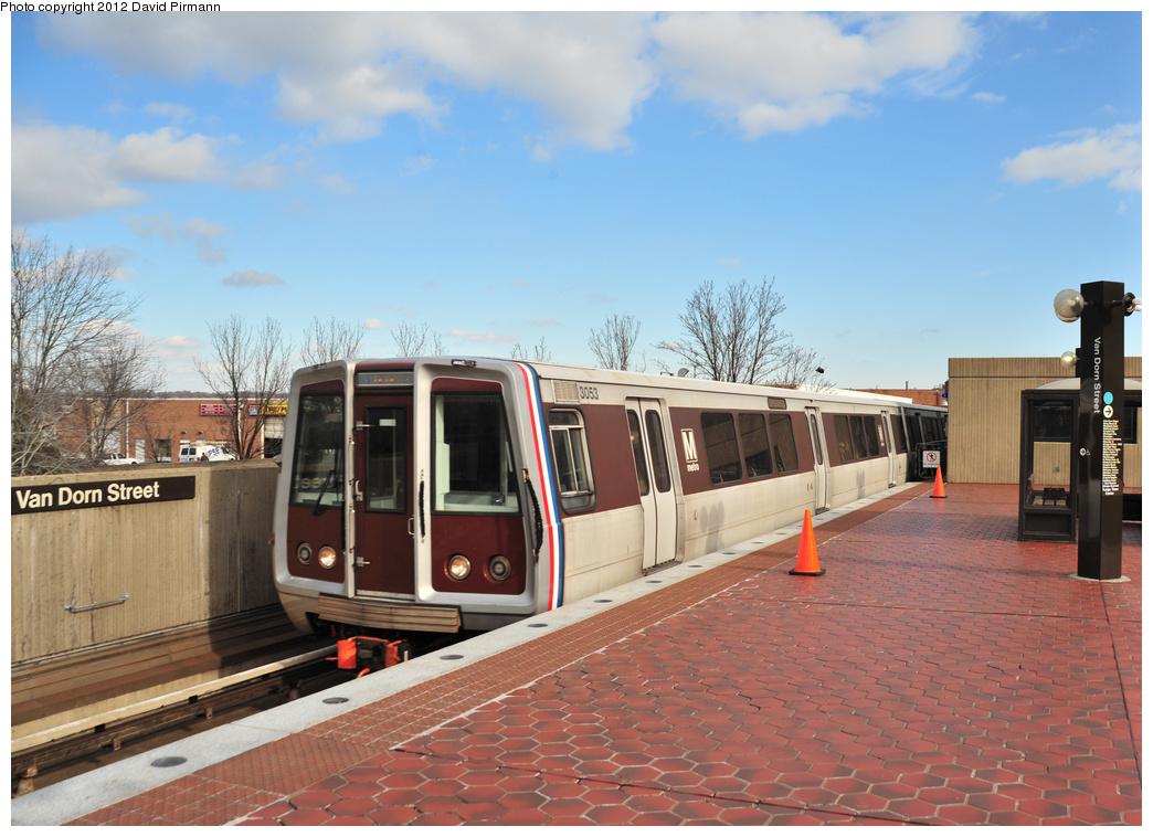 (344k, 1044x758)<br><b>Country:</b> United States<br><b>City:</b> Washington, D.C.<br><b>System:</b> Washington Metro (WMATA)<br><b>Line:</b> WMATA Blue Line<br><b>Location:</b> Van Dorn Street <br><b>Car:</b>  3053 <br><b>Photo by:</b> David Pirmann<br><b>Date:</b> 1/14/2012<br><b>Viewed (this week/total):</b> 0 / 671