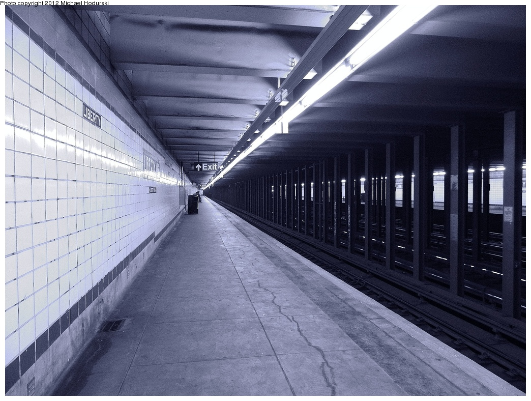 (380k, 1044x788)<br><b>Country:</b> United States<br><b>City:</b> New York<br><b>System:</b> New York City Transit<br><b>Line:</b> IND Fulton Street Line<br><b>Location:</b> Liberty Avenue <br><b>Photo by:</b> Michael Hodurski<br><b>Date:</b> 1/12/2012<br><b>Viewed (this week/total):</b> 5 / 1524