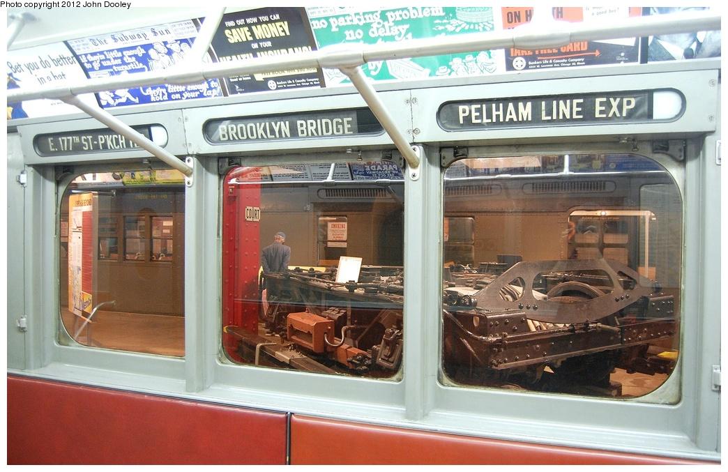 (341k, 1044x677)<br><b>Country:</b> United States<br><b>City:</b> New York<br><b>System:</b> New York City Transit<br><b>Location:</b> New York Transit Museum<br><b>Car:</b> R-12 (American Car & Foundry, 1948) 5760 <br><b>Photo by:</b> John Dooley<br><b>Date:</b> 10/2/2011<br><b>Viewed (this week/total):</b> 1 / 1388