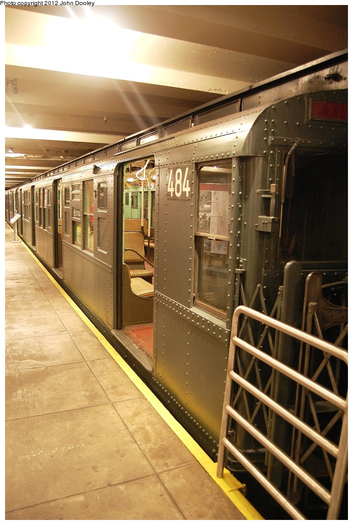(357k, 701x1044)<br><b>Country:</b> United States<br><b>City:</b> New York<br><b>System:</b> New York City Transit<br><b>Location:</b> New York Transit Museum<br><b>Car:</b> R-4 (American Car & Foundry, 1932-1933) 484 <br><b>Photo by:</b> John Dooley<br><b>Date:</b> 10/2/2011<br><b>Viewed (this week/total):</b> 2 / 805